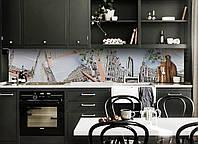 Скинали на кухню Zatarga «Лондон и Ромашки» 600х3000 мм виниловая 3Д наклейка кухонный фартук самоклеящаяся