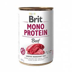 Консервы для собак Brit Mono Protein Beef с говядиной 400 г