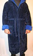 Теплый мужской халат длинный