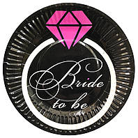 """Тарелки бумажные одноразовые """"Bride to Be"""" девичник 10 шт"""