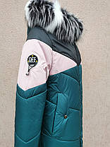 Удлиненное зимнее пальто для девочки подростка., фото 2