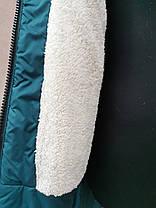 Удлиненное зимнее пальто для девочки подростка., фото 3