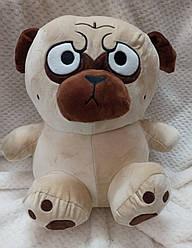 """Іграшка-плед-подушка""""Мопсік"""" 60х30 розмір іграшки."""