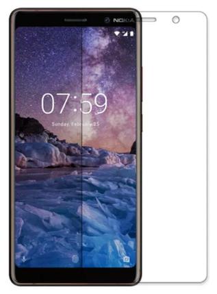 Гидрогелевая защитная пленка на Nokia 7 Plus на весь экран прозрачная, фото 2