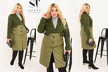 Пальто жіночі великих розмірів 48+
