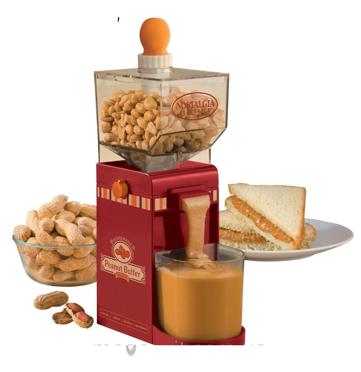 Машинка для приготовления арахисового масла Peanut Butter Maker, аппарат для измельчения орехов