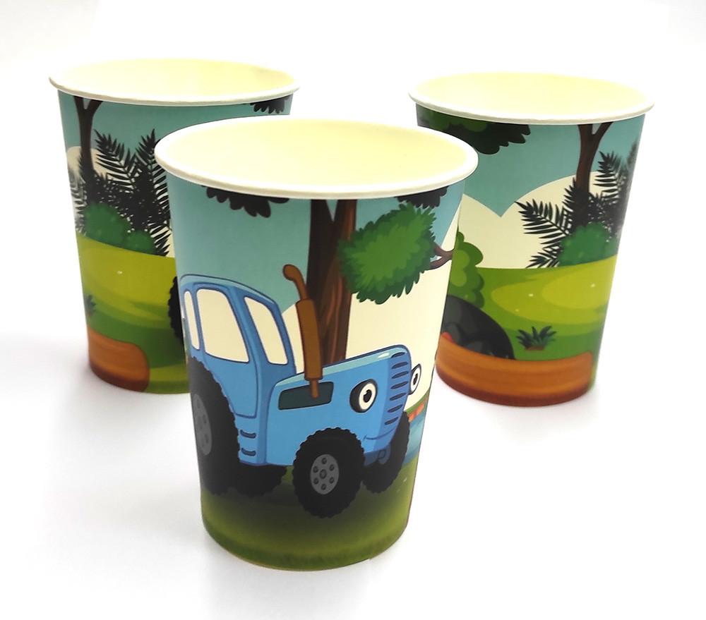 """Набор стаканчиков """"Синий трактор""""  10 штук"""