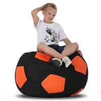 Кресло-мяч Черный с оранжевым, фото 1