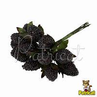 Декоративная Ежевика черная на проволоке в присыпке 1 шт