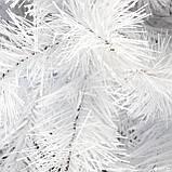 Ялинка елка Белая ПВХ искусственная ель штучна сосна новогодняя біла йолка Сказка 1.8 м 180см пушистая большая, фото 4