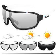 Спортивные фотохромные очки UV400 Черный+Белый