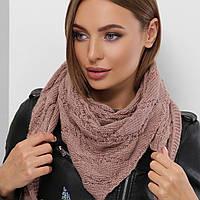 Вязаный платок на шею теплый
