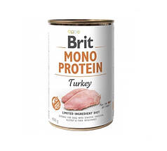 Консервы для собак Brit Mono Protein Turkey с индейкой 400 г