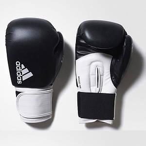"""Боксерські рукавички Adidas """"Hybrid 100"""" (чорно/білий, ADIH100) 16"""