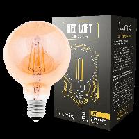 LED лампа филаментная Ilumia 6W Е27 G95 2300К теплый 600Lm (086)