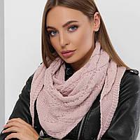 Вязаный платок на плечи женский стильный, фото 1