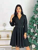 Платье черное новогоднее с костюмки