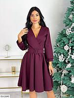 Платье бордовое новогоднее с костюмки