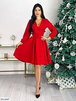 Платье красное новогоднее с костюмки, фото 1