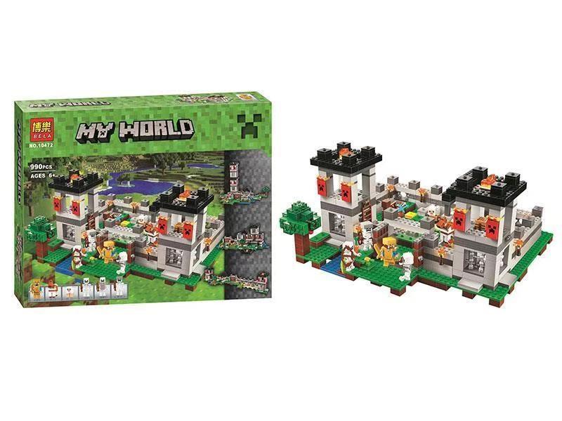 Детский конструктор  Bela Крепость Minecraft  из 990 деталей