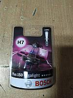 """Лампа галогеновая H7 12V 55W PX26d GigaLight +150 """"BOSCH"""" 1 987 301 137 - Венгрия"""
