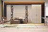 Шкаф-кровать в комплекте со стенкой в классическом стиле