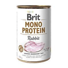 Консервы для собак Brit Mono Protein Rabbit с кроликом 400 г