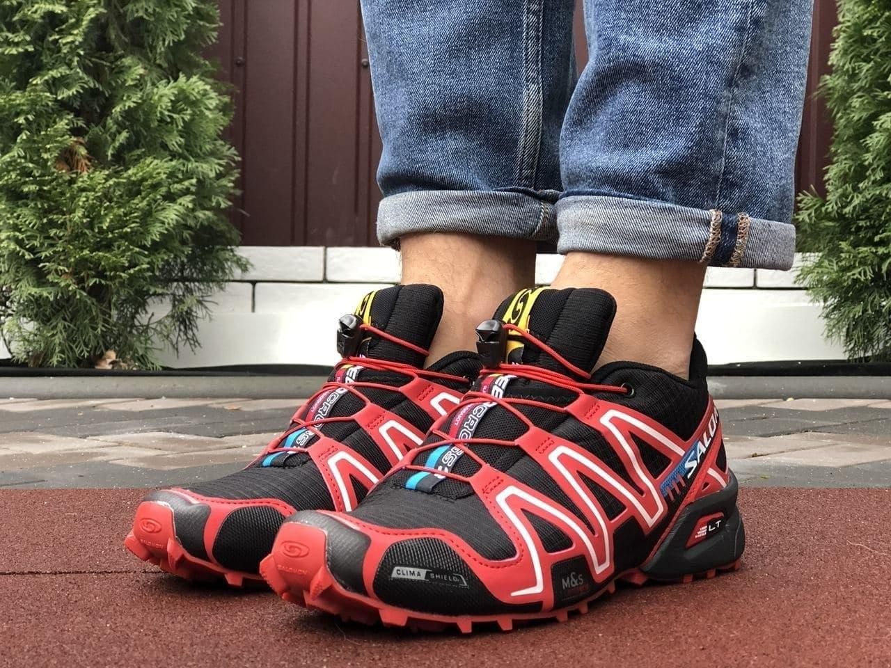 Кросівки жіночі в стилі Salomon Speedcross 3 чорні