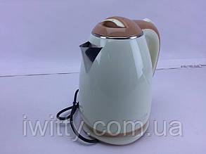 Новинка! Электрический чайник BITEK BT-3114 Кремовый
