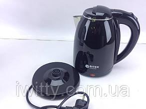 Электрочайник BITEK BT-3112 / нерж. / 2,0л / 1500В  / Черный