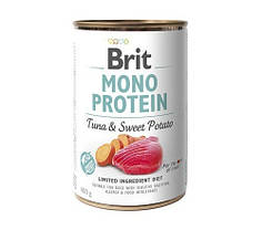 Консервы для собак Brit Mono Protein Tuna/Sweet Potato с тунцом и бататом 400 г