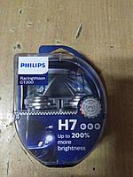 """Лампа галогеновая H7 RacingVision GT200 +200 12V 55W PX26d """"Philips"""" 12972RGTS2 - Польша"""