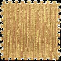 Модульное напольное покрытие Золотое дерево 600*600*10 мм мягкий пол пазл ЭВА панели-пазлы