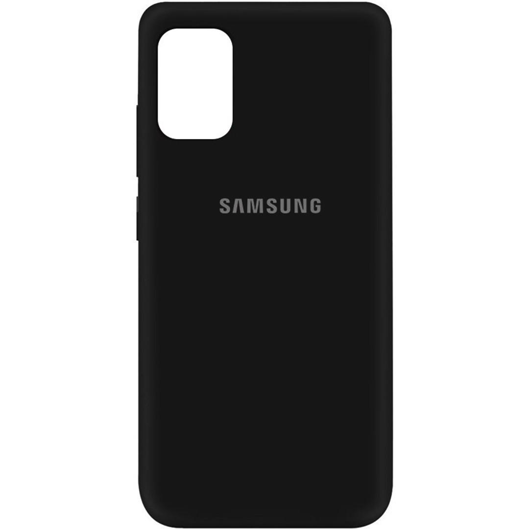 Силиконовый чехол для Samsung Galaxy M31S (SM-M317), My Colors, черный, микрофибра внутри