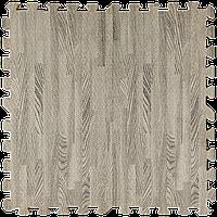 Модульне підлогове покриття Сіре Дерево 600*600*10 мм м'яка підлога пазл ЕВА панелі-пазли