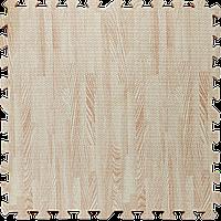 Модульное напольное покрытие Дерево светлое текстура 600*600*10мм мягкий пол пазл ЭВА панели-пазлы