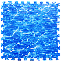 Модульное напольное покрытие Океан 600*600*10 мм мягкий пол пазл ЭВА панели-пазлы