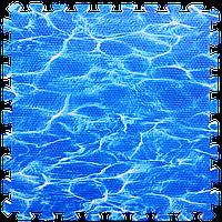 Модульне підлогове покриття Океан 600*600*10 мм м'яка підлога пазл ЕВА панелі-пазли Набір 6 шт.
