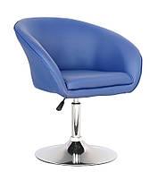Кресло Мурат мягкое хромированное экокожа цвет синий