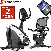 Електромагнітний, горизонтальний велотренажер HS-070L Helix iConsole+ silver до 150 кг. Гарантія 24 міс.