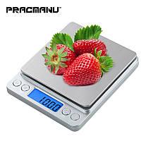 Портативные электронные весы (3000 г/0,1 г,) PRACMANU DZC31