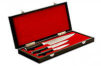 Набір з 3-х кухонних ножів Samura Mo-V у подарунковому футлярі (SM-0220), фото 1