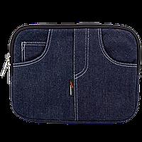 """10"""" LF-1006  Чехол для нетбука, планшета, iPad, джинс, синий, подкладка замш"""