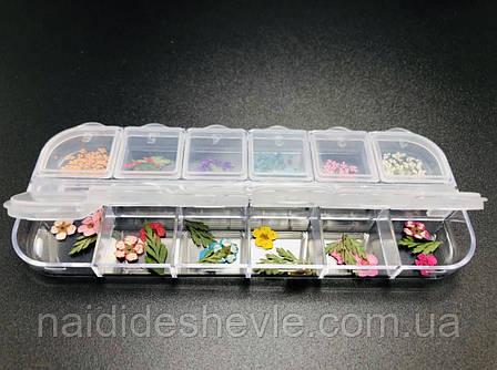 Сухоцветы для дизайна ногтей, 12 шт., фото 2