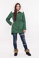Женская зимняя куртка на тинсулейте 8566 Изумруд