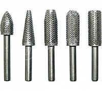 Набор твердосплавных шарошек по металлу для фигурных отверстий 5 шт.