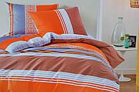 Комплект постельного белья Elway EW-5041 евро Коричнево-оранжевый (hub_zHVh84331)