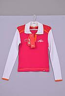 Джемпер блуза свитерок для девочек трикотажный Л-169 рост 122 128 134 140 146 158 красный и синий, фото 1