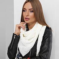 В'язаний шарф-хомут снуд жіночий чорний, фото 1