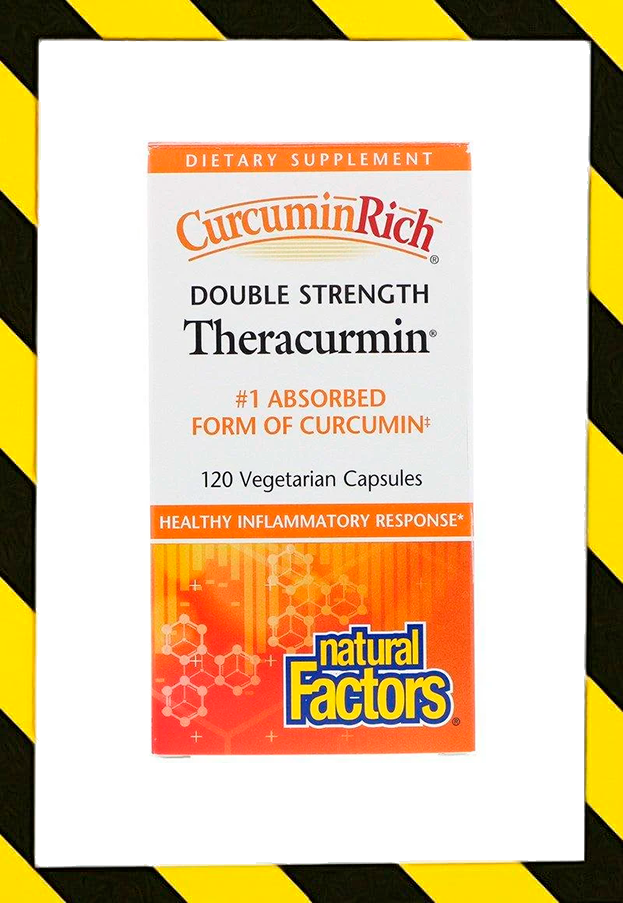 Natural Factors, Препарат CurcuminRich, Double Strength Theracurmin, Куркумин 120 вег капсул